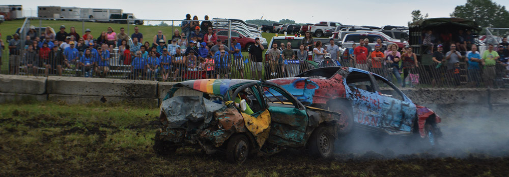Come see the demolition derby when you're at the fair Saturday afternoon